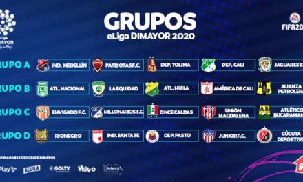 Definidos los grupos de la eLiga Dimayor de FIFA20 del fútbol colombiano