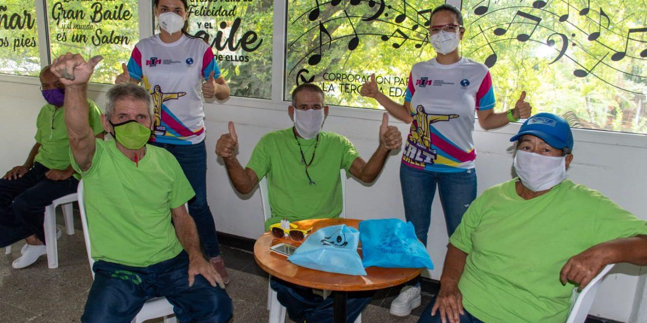 Los Juegos Panamericanos Junior llevaron alegría a grupos de la tercera edad de Cali