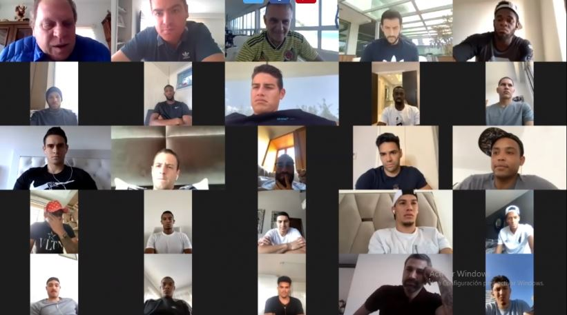 ¡Tricolor junta! La Selección Colombia se reunió de forma virtual para hablar de aspectos futbolísticos