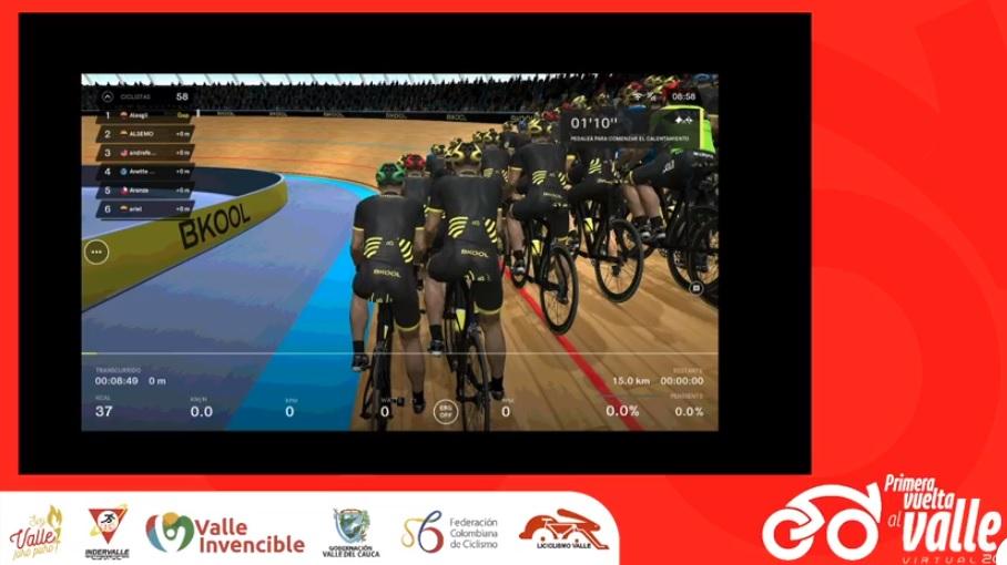 La primera edición de la Vuelta al Valle Virtual 2020 comenzó en la pista