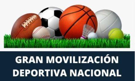 Este viernes se realizará la gran Movilización Nacional Deportiva