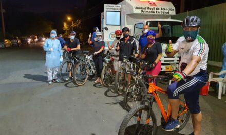 Inició toma de pruebas PCR gratuitas para ciclistas que usan las Rutas D' Vida