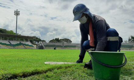 La grama del estadio Francisco Rivera Escobar de Palmira cumple los estándares de la FIFA