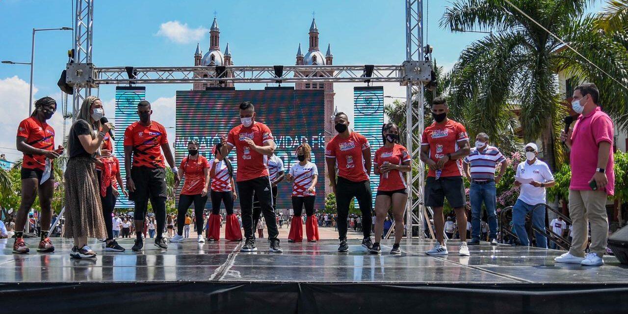 En Buga se vivió con todo éxito la I Maratón de Aeróbicos Regional 2020
