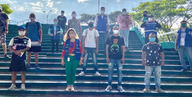Barristas del Deportivo Cali promueven cultura ciudadana en barrio Alfonso López