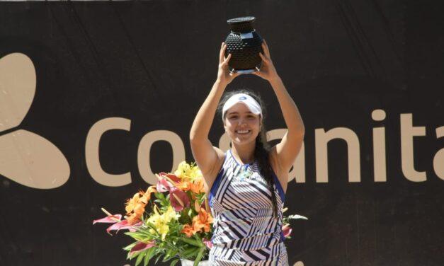 María Camila Osorio conquistó el título de la Copa Colsanitas