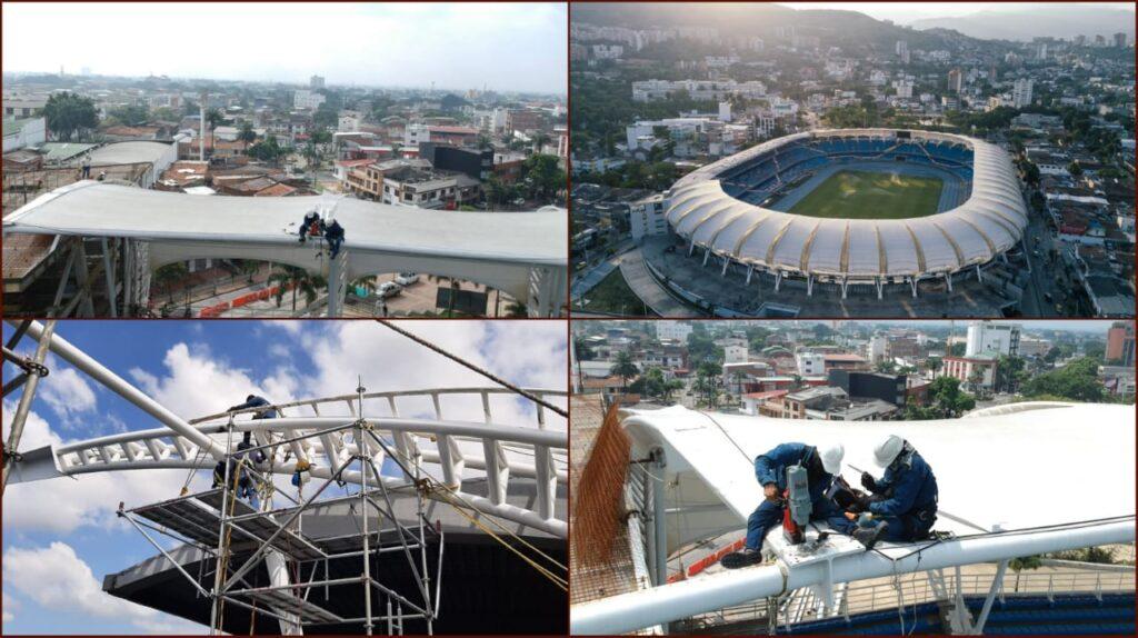 Avanza a buen ritmo la renovación de las luminarias del estadio Pascual Guerrero