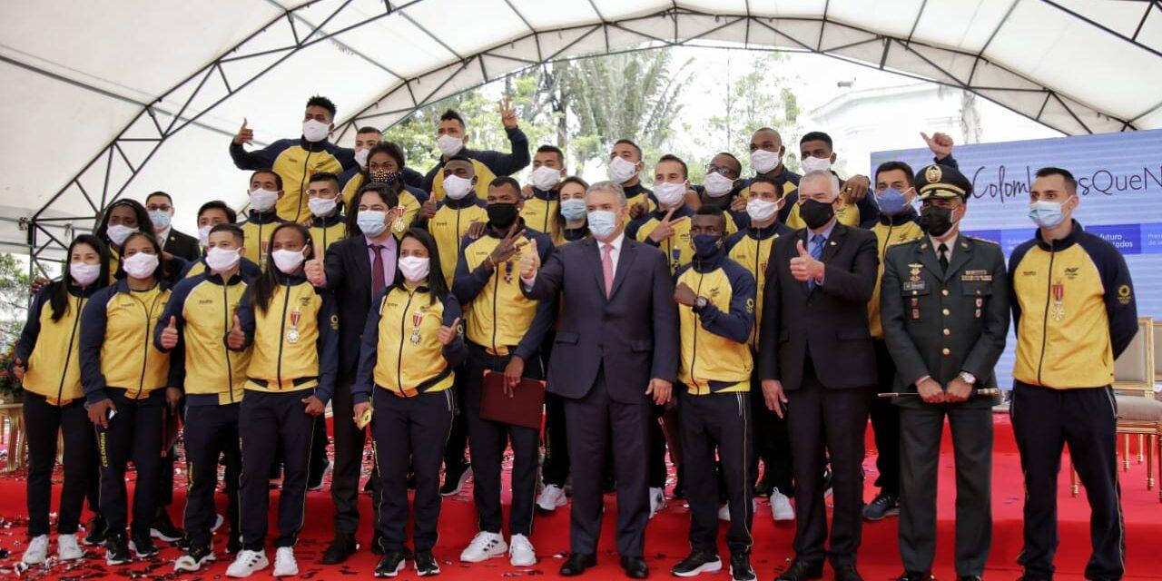 Presidente Iván Duque recibió a atletas colombianos que compitieron en Tokio 2020