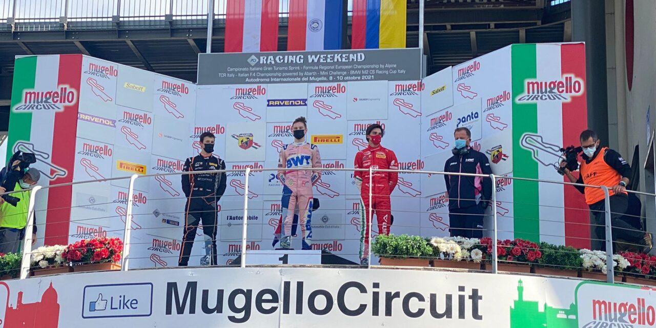 Sebastián Montoya logró podio en el Campeonato Italiano de Fórmula 4